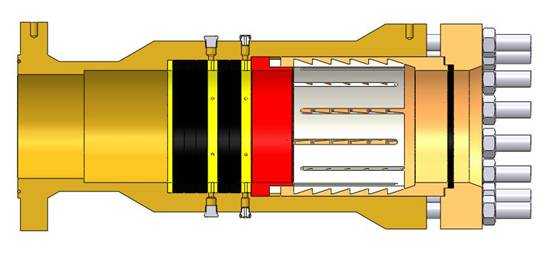 1-12in 900LB RJ Q-CON_subsea_section view